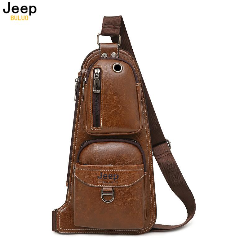 e63105fba3 2019 2018 JEEP BULUO Men Messenger Bags New Hot Crossbody Shoulder Bag  Famous Brand Man S Leather Sling Chest Bag Fashion Casual 6196 From  F6241163