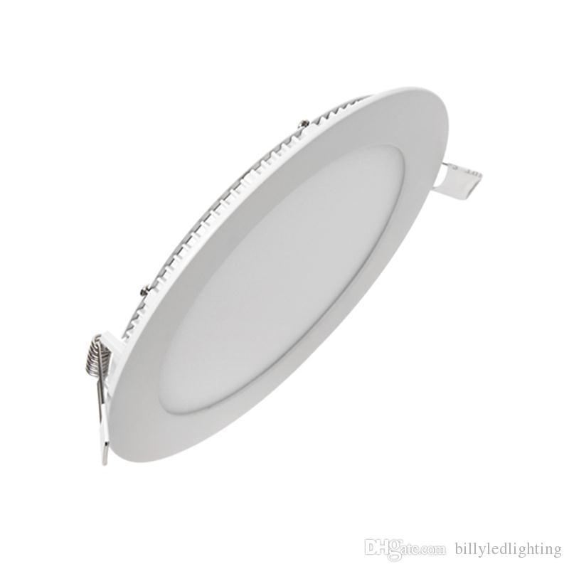 Zhongshan 3W 4W 6W 9W 12W 15W 18W 24W SMD2835 CRI80 / 90 круглый утопленный свет панели Сид ультратонкий алюминий оптом