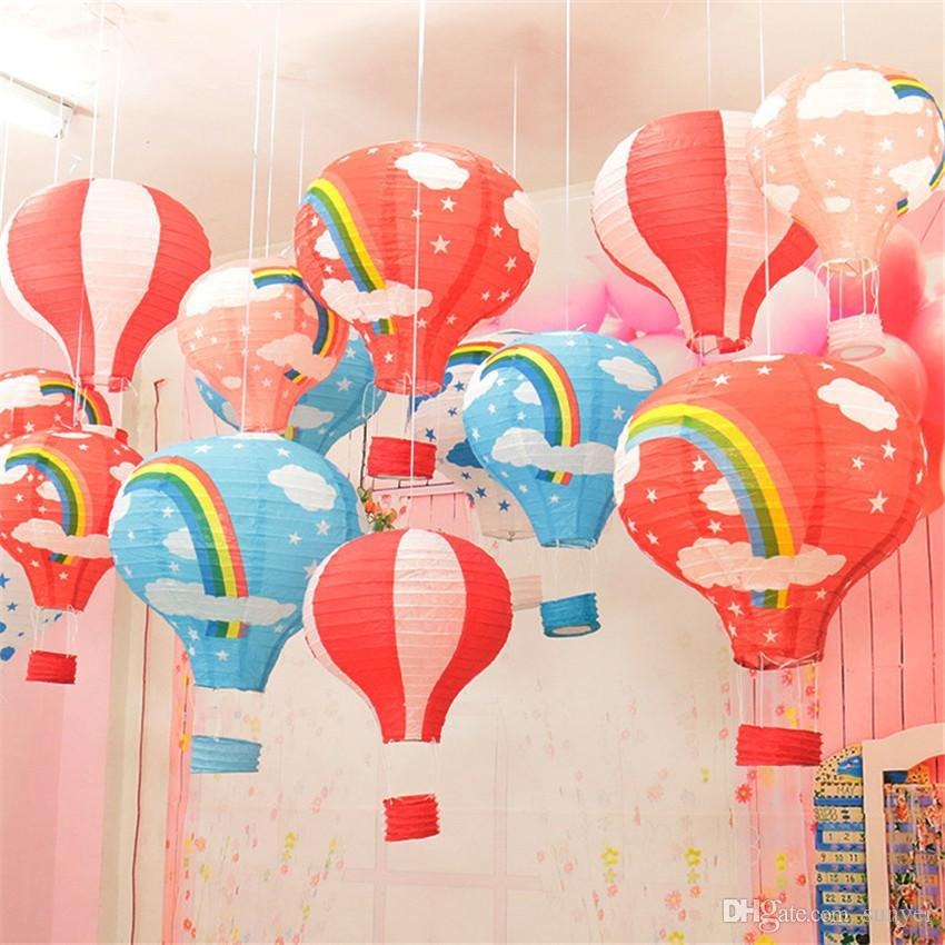 Wholesale 12 Inch Hot Air Balloon Paper Lantern For Wedding Party Birthday Decorations Kids Gift Craft Christmas Displays Door Decoration From