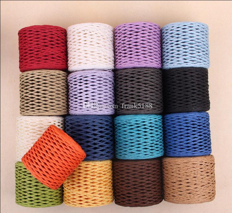 Compre 200 M   Roll New 100% Fios De Palha Mão Fios De Crochê Para Diy  Handmade Chapéus Sacos Cestas DIY Fio De Palha Natural Navio Livre De  Frank5188 2fae6b06fb0