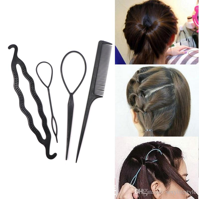 Black Plastic DIY Styling Tools Pull Hair Clips For Women Hairpins ...