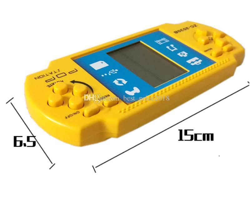 Çocuk Oyuncular Tetris Klasik Nostalji Oyunu Çocuklar PSP Için Taşınabilir El Oyun Konsolu El-held Oyun Cihazı