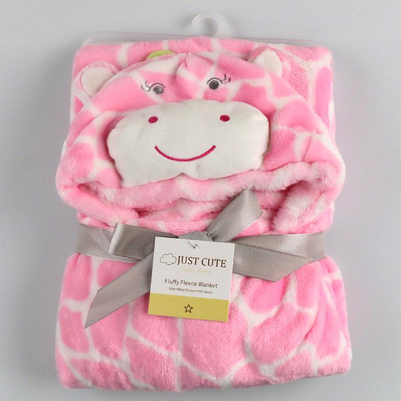 10 parça! 3D karikatür Yumuşak Bebek Battaniye 76 cm * 92 cm 0-6 yaşında Çocuklar flannel Battaniye çocuk banyo havlusu sevimli hayvan şekli bebek pelerin