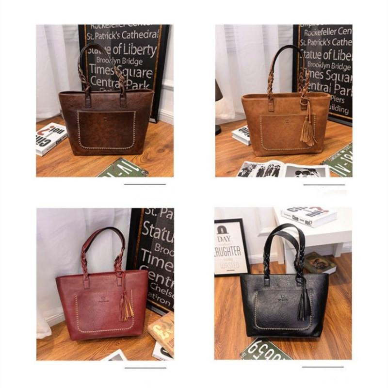 New Designer Handbags Fashion Handbags PU Totes Simple Retro Fashion Ladies  Large Capacity Single Shoulder Bag Leisure Fashion Shopping Designer  Handbags ... 5007d3d749