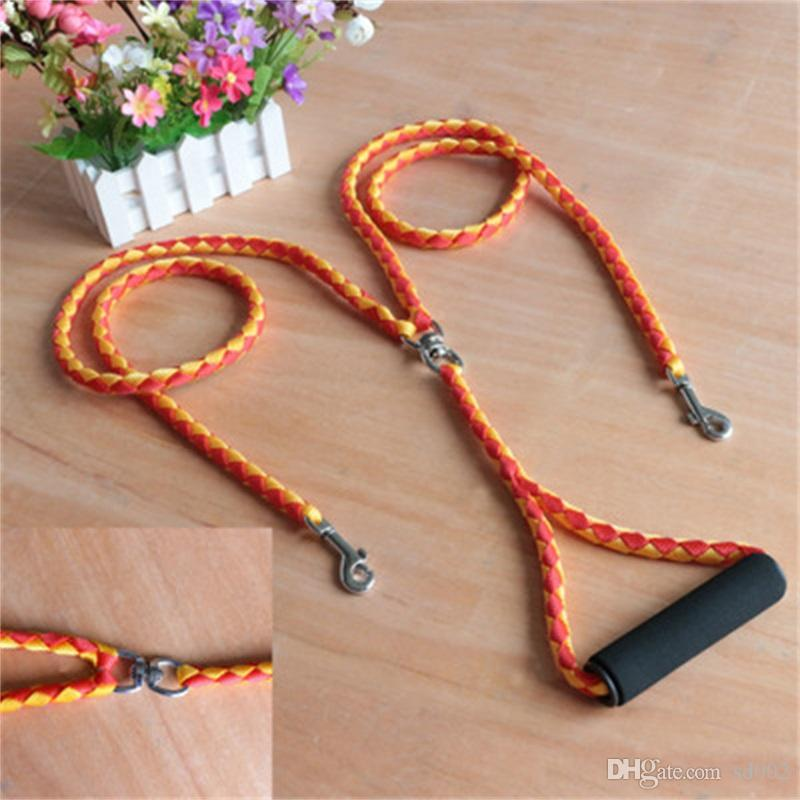 Two Pet Traction Rope Anti Winding Nylon Multi Color Hauling Cable Braided For Enhance Feelings Trainning Dog Leashes Popular 20cx Y