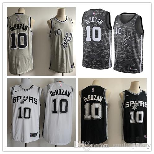 promo code 35c19 a8248 2019 Mens 10 DeMar DeRozan San Antonio Spurs Basketball Jerseys Authentic  Stitched Embroidery Mesh Dense AU DeMar DeRozan Basketball Jerseys