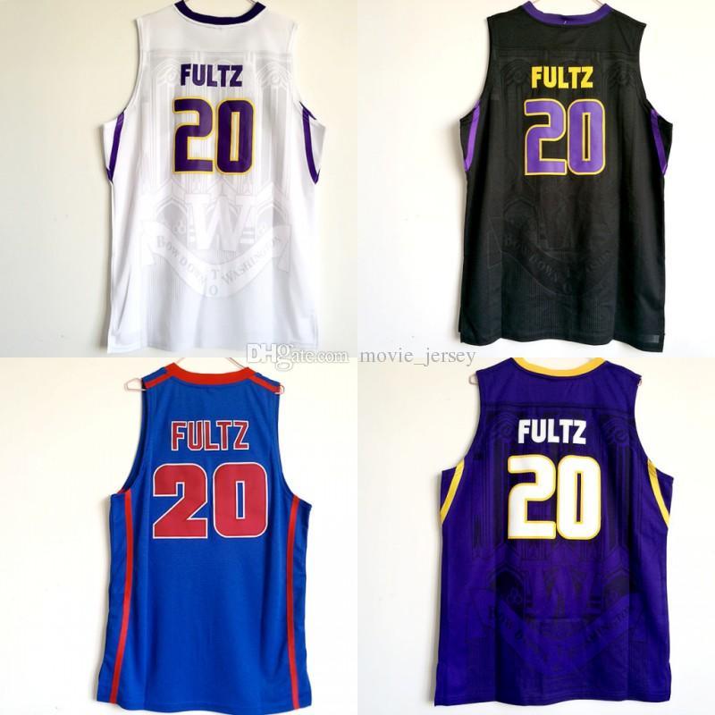 reputable site af2b2 ed192 Top Quality Washington Huskies Jersey #20 Markelle Fultz Jersey Mens  University Markelle Fultz College Basketball Jerseys Black White Purple