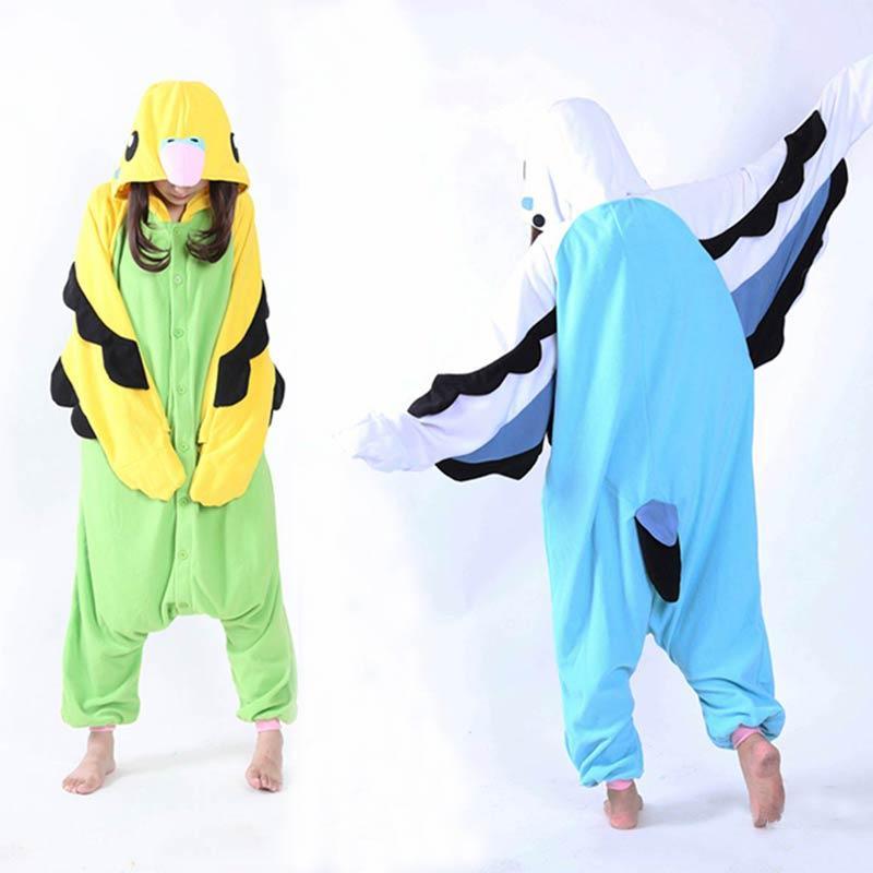 9569c69863 Adult Unisex Fleece Animal Parrot Onesies Novelty Pajamas Pyjamas Jumpsuit  Nightwear Carnival Costumes Kigurumi Cosplay Pyjama Jumpsuit Carnival  Costume ...
