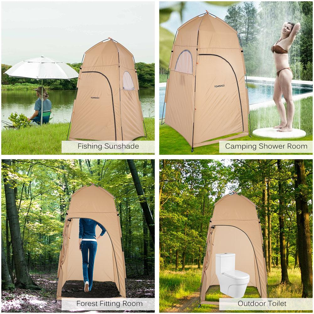 TOMSHOO C&ing Tent Outdoor Shower Tent From RU/US Toilet Bath Changing Fitting Room Beach Privacy Shelter Travel Best C&ing Tent Family Tent Reviews ... & TOMSHOO Camping Tent Outdoor Shower Tent From RU/US Toilet Bath ...