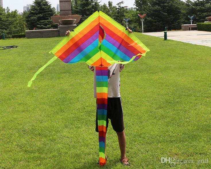 Grid Rainbow Kite For Kids One Of The Best Selling Toys For Outdoor Games and Activities - Good Plan For Memorable Summer Fun