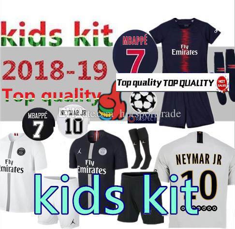 Kids Kit 18 19 Paris Jordam Soccer Jersey 2018 2019 PSG CAVANI ... ce49574e8