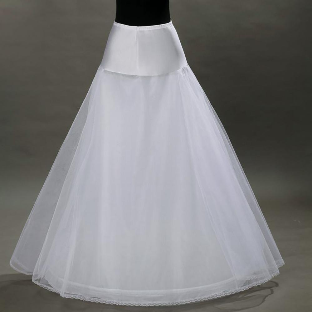 c67758b8fb0a3 Hot Sale Cheapest A-Line White Wedding Petticoats Free Size Bridal ...