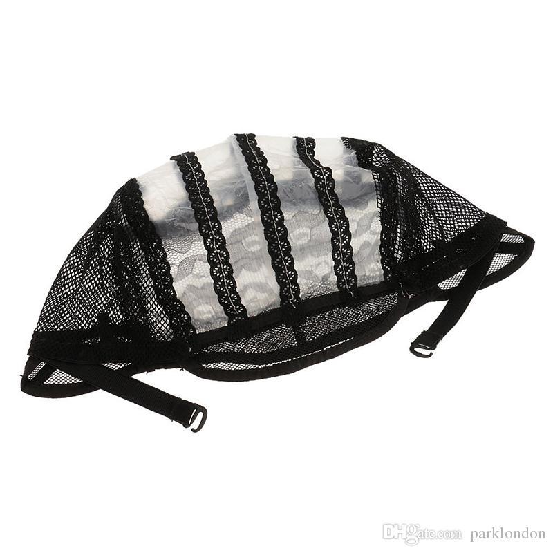 Chapeaux de perruque pour confectionner des bretelles bretelles réglables au dos de la dentelle suisse