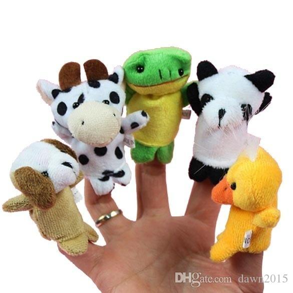10x Cartoon Finger Puppets Cloth Plush Doll Baby Educational Hand Animal Toy AL