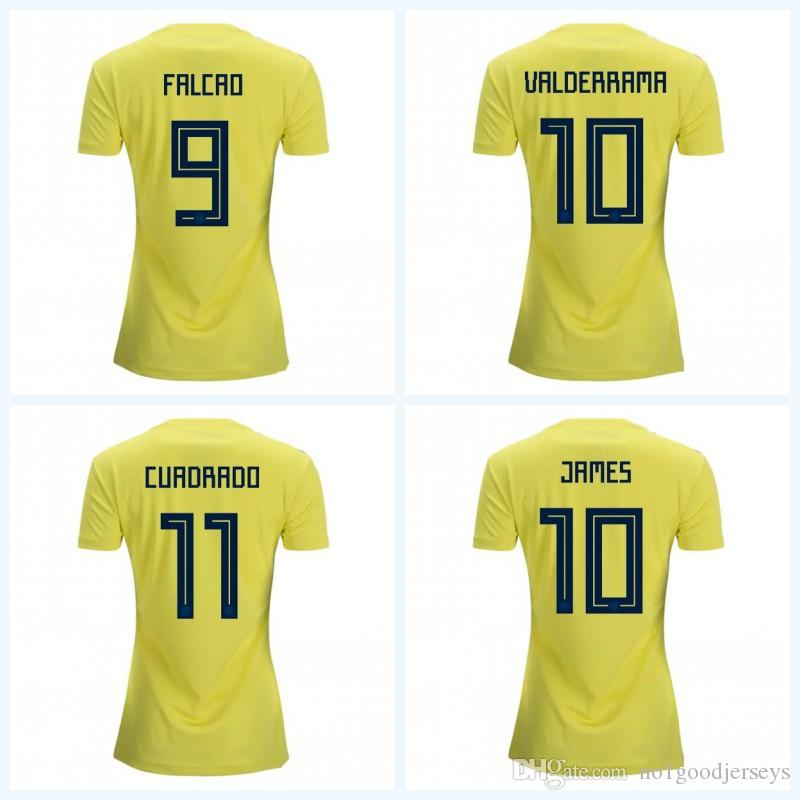 7e095d0fbf3 2018 Colombia World Cup Colombia Away Girl Football Shirt Colombia ...