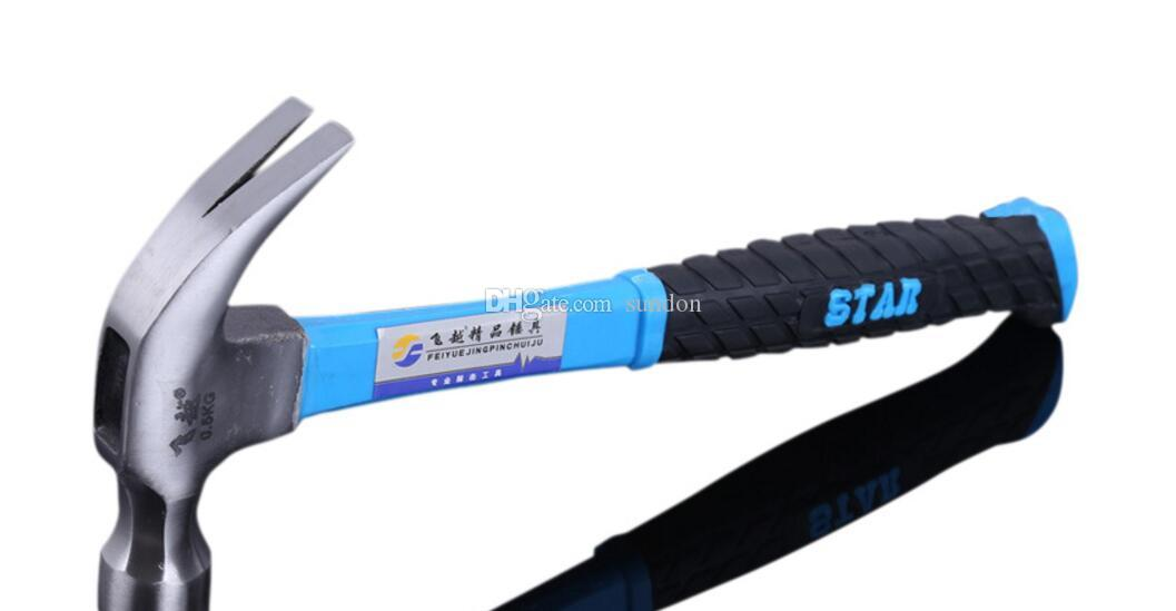 Tire handle claw hammer Plastic bag does not shake claw nails civil Mason iron hammer factory