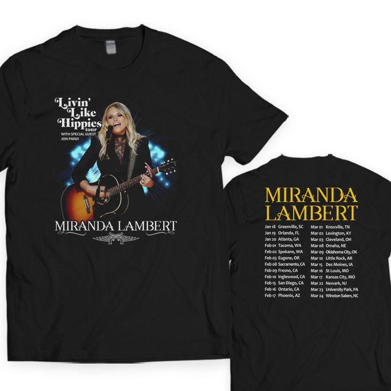 Compre Camisas A Medida Online O Neck Hombre Miranda Lambert Livin Like  Hippies Tour 2018 S A 4Xl Novedad Camisetas De Manga Corta A  11.0 Del  Dhgatec0m6 ... 9c2131008183c
