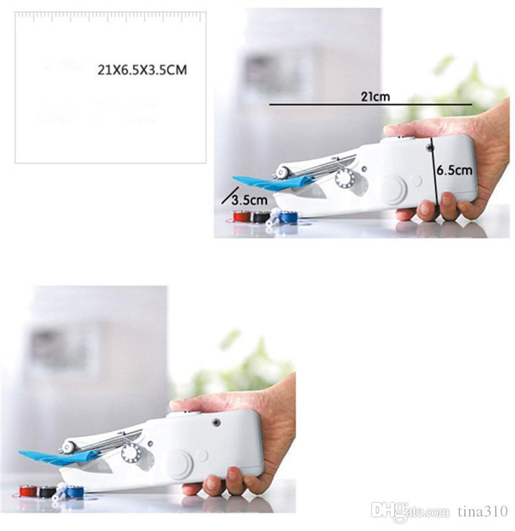 Handy Stitch Handheld Electric Sewing Machine Mini Portable Home Sewing Quick Table Hand-Held Single Stitch DIY Tool T1I219