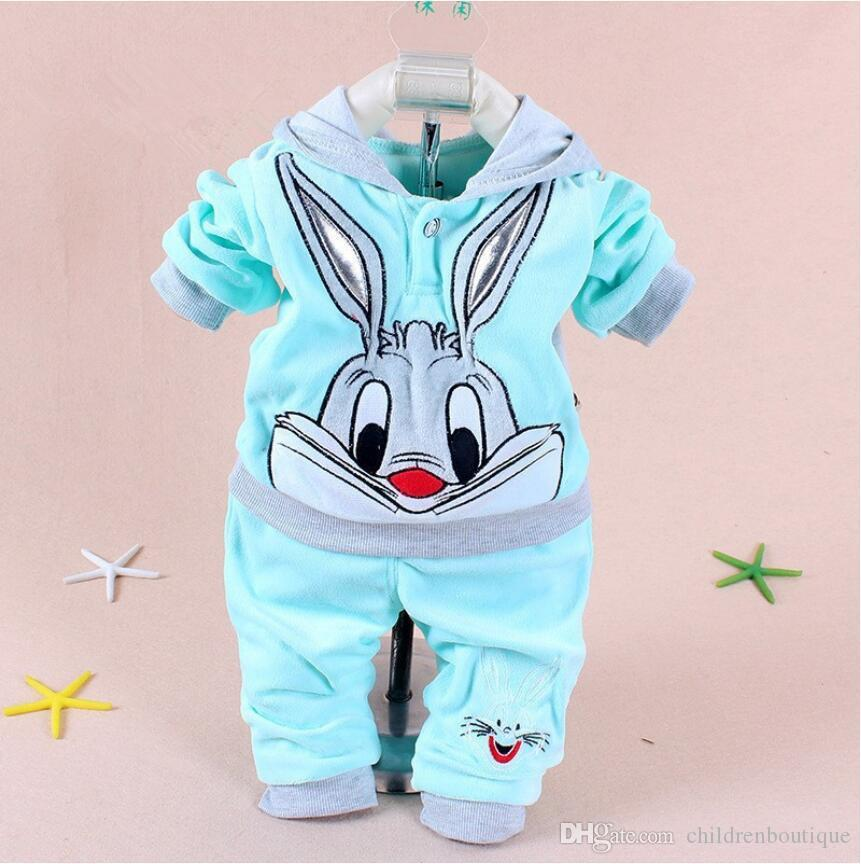 15fe793e6 2019 Baby Clothes Newest Spring Autumn Rabbit And Cow Pattern Hoodie ...