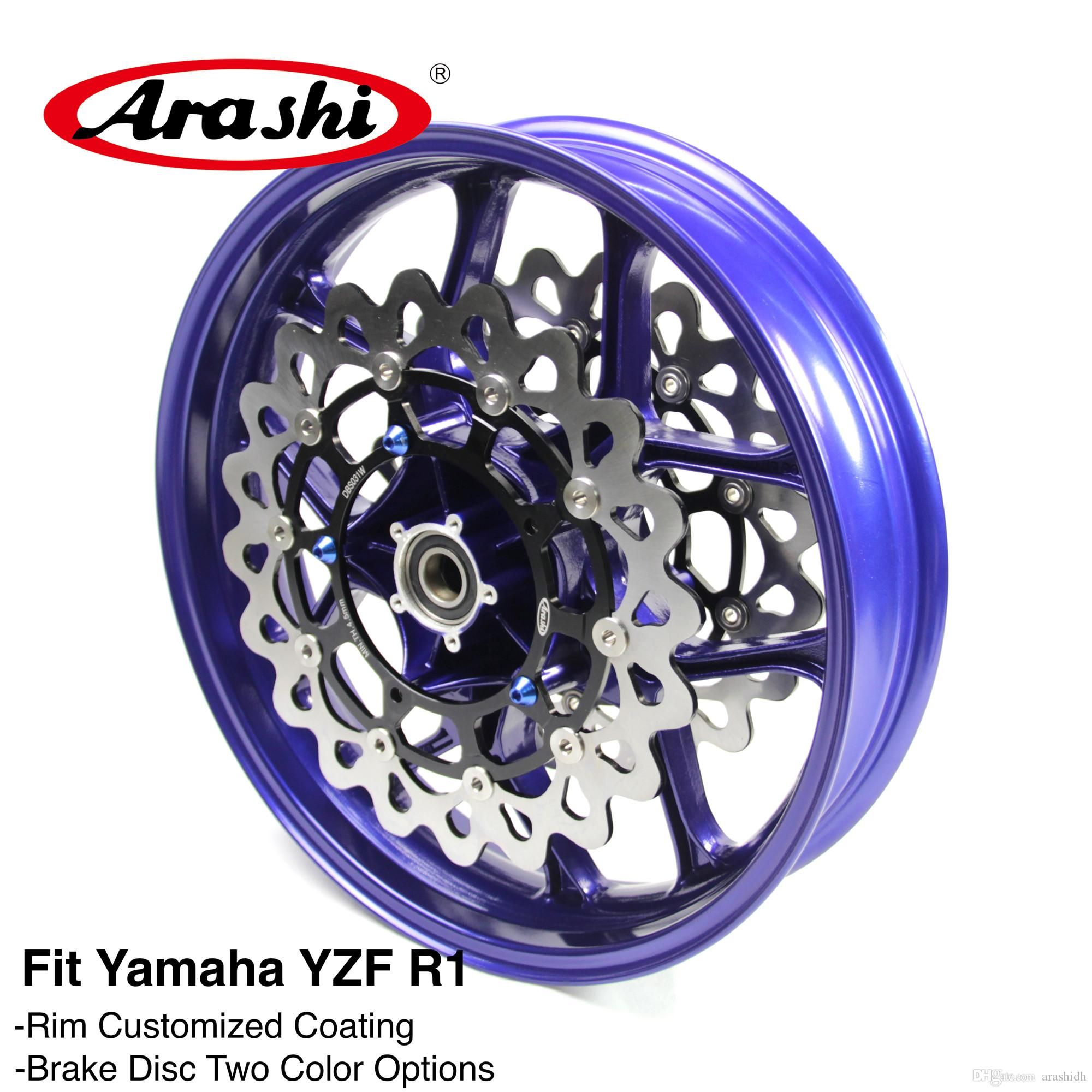 2018 Arashi For Yamaha Yzf R1 2015 2016 2017 Front Wheel Rim Brake Disc Disk Rotor Motorcycle Accessories From Arashidh 50252