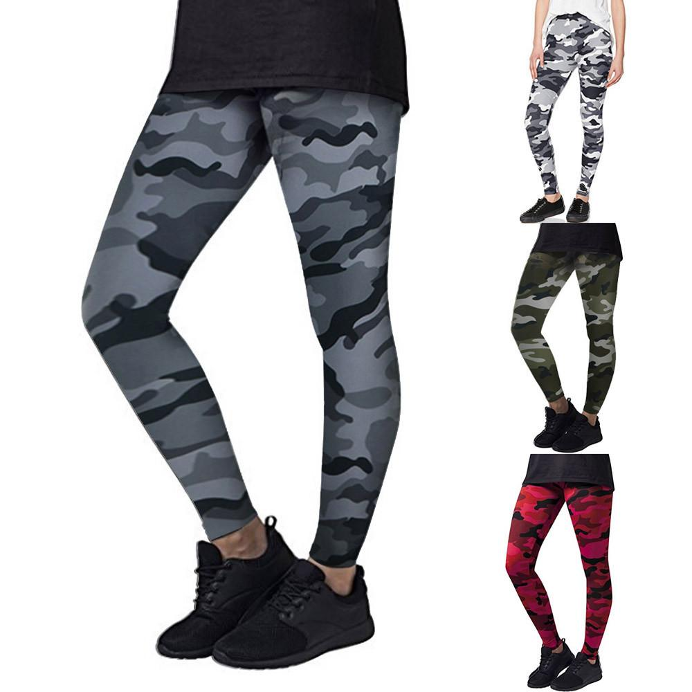 seleccione para el despacho sitio oficial clásico Hot Fashion Pants Women Yoga Workout Gym Leggings Fitness Sports Trouser  Camouflage Athletic Pants Ropa Deporte Mujer