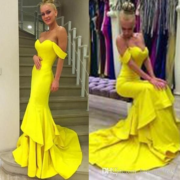 Yellow Evening Dresses for Women