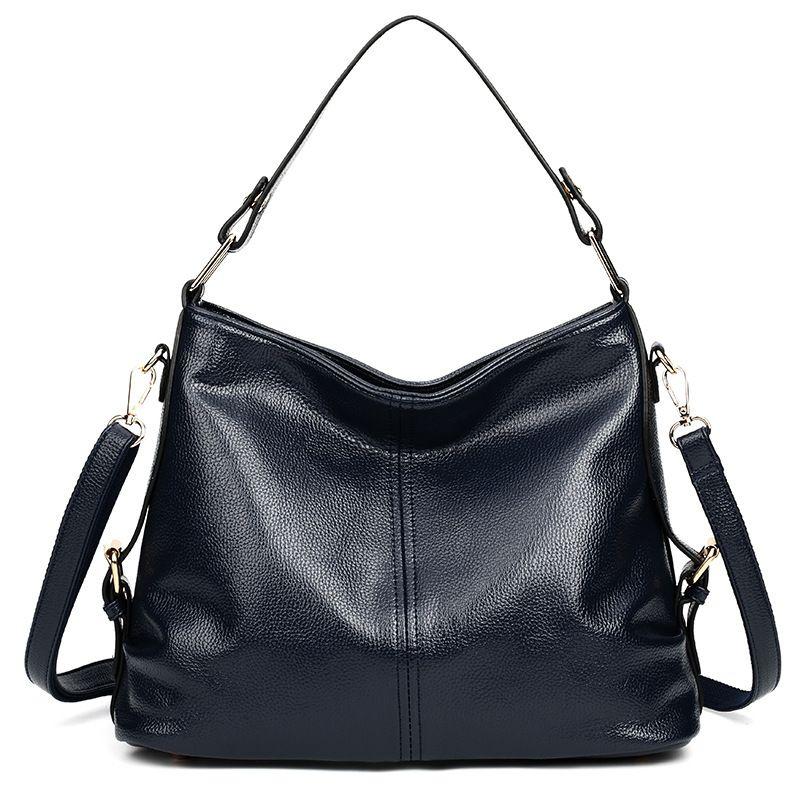 d2b3445c7a86 Luxury Handbags Women Shoulder Bag Large Tote Bags Hobo Soft Leather Ladies  Crossbody Messenger Bags For Women 2018 Sac A Main Leather Handbags Handbags  On ...