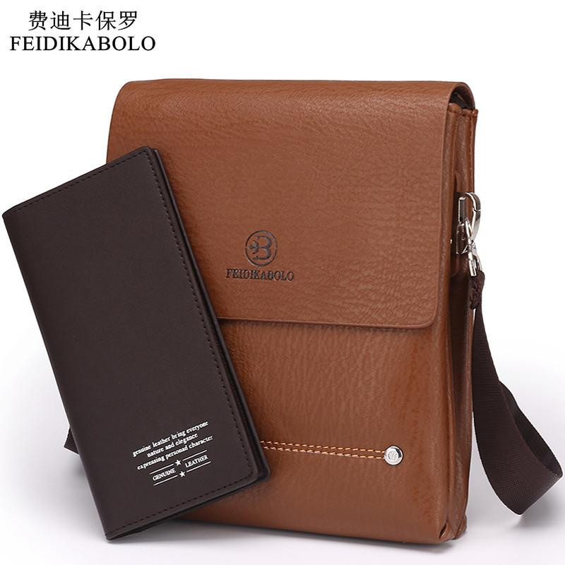 fcdf1dcd492f 2018 Latest Arrival Bilayer Leather Messenger Bag Cheap Men S Shoulder Bag  Specials Small Leisure Satchel Business Envelope Bag S914 Handbag Brands  Cheap ...