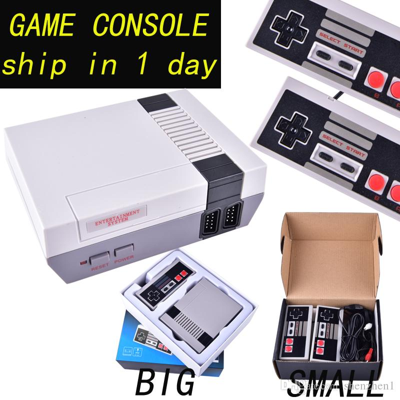 Hot sale Mini TV Game Console can store 500/620 games Video Handheld for NES games consoles with retail boxs OTH733 free shipping