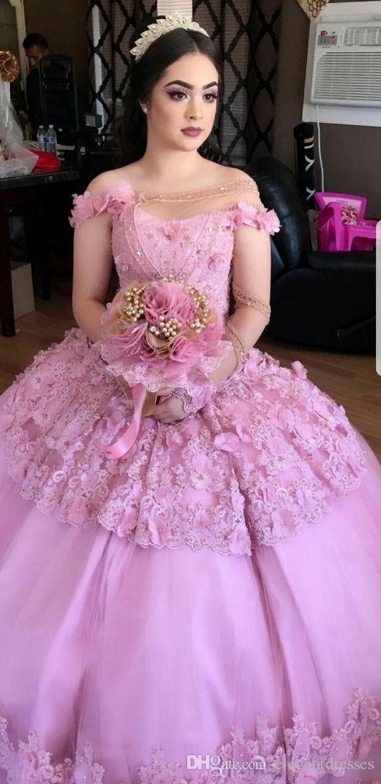 2021 nouvelle robe de boules d'épaule Quinceanera robes de quinceanera personnalisé 3D floral orné des robes de fête de bal perlée perlée vestidos de quinceanère 16 ans
