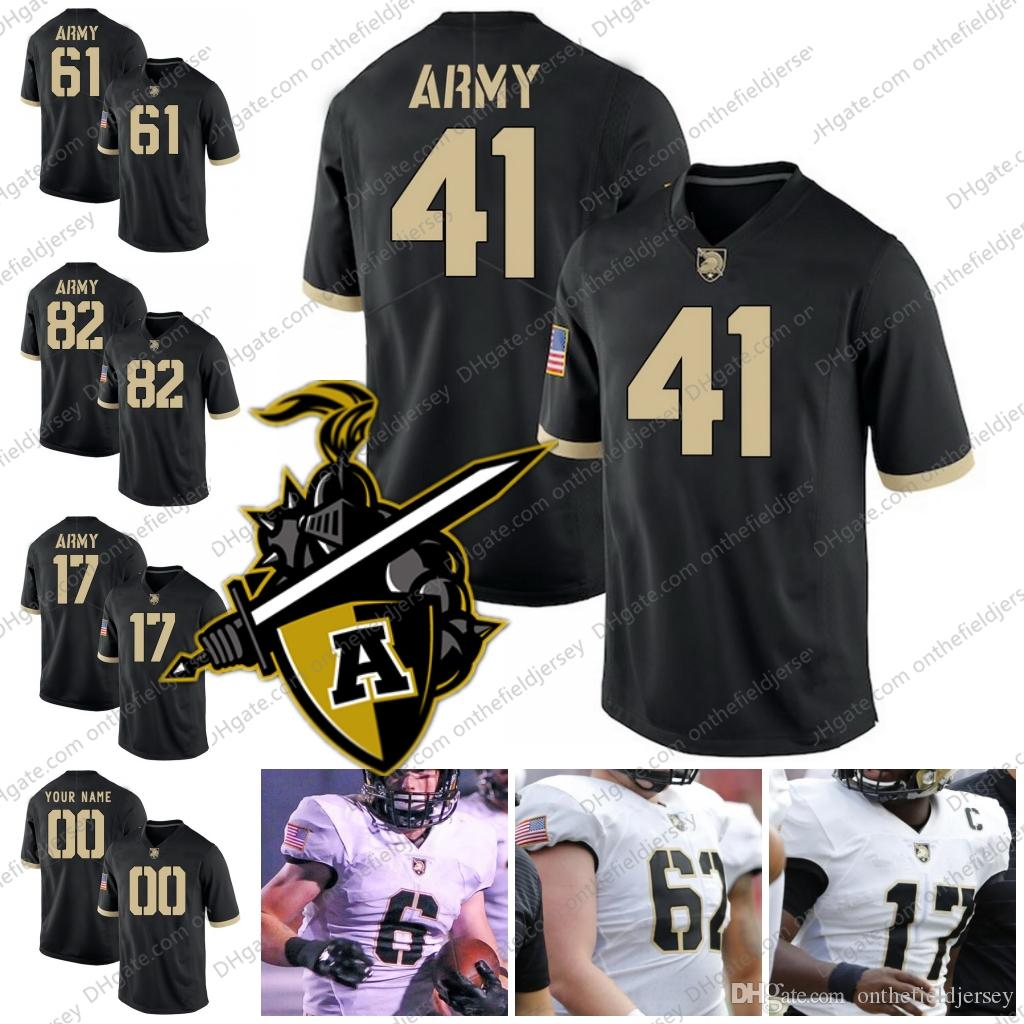 cheaper 2670c b891c Army Black Knights College Football Jersey 41 Glenn Davis 61 Joe Steffy 82  Alejandro Villanueva 17 Ahmad Bradshaw black white S-4XL