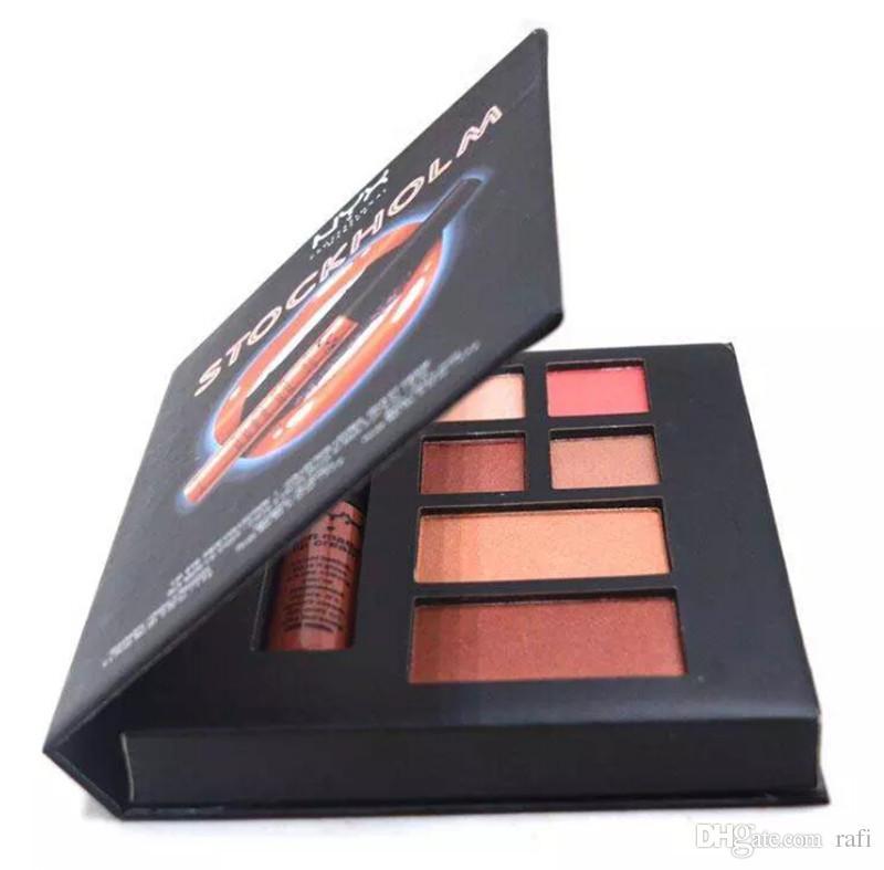 NYX STOCKHOLM lip eye face collection Soft matte lip cream Highlighter eyeshadow blush Set DHL shipping