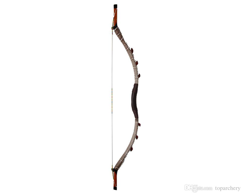 35-55lbs Traditional Archery Bows Pure Handmade Wooden Fiberglass Hunting  Recurve Longbow Unique Chinese Style Mongolia Horsebow