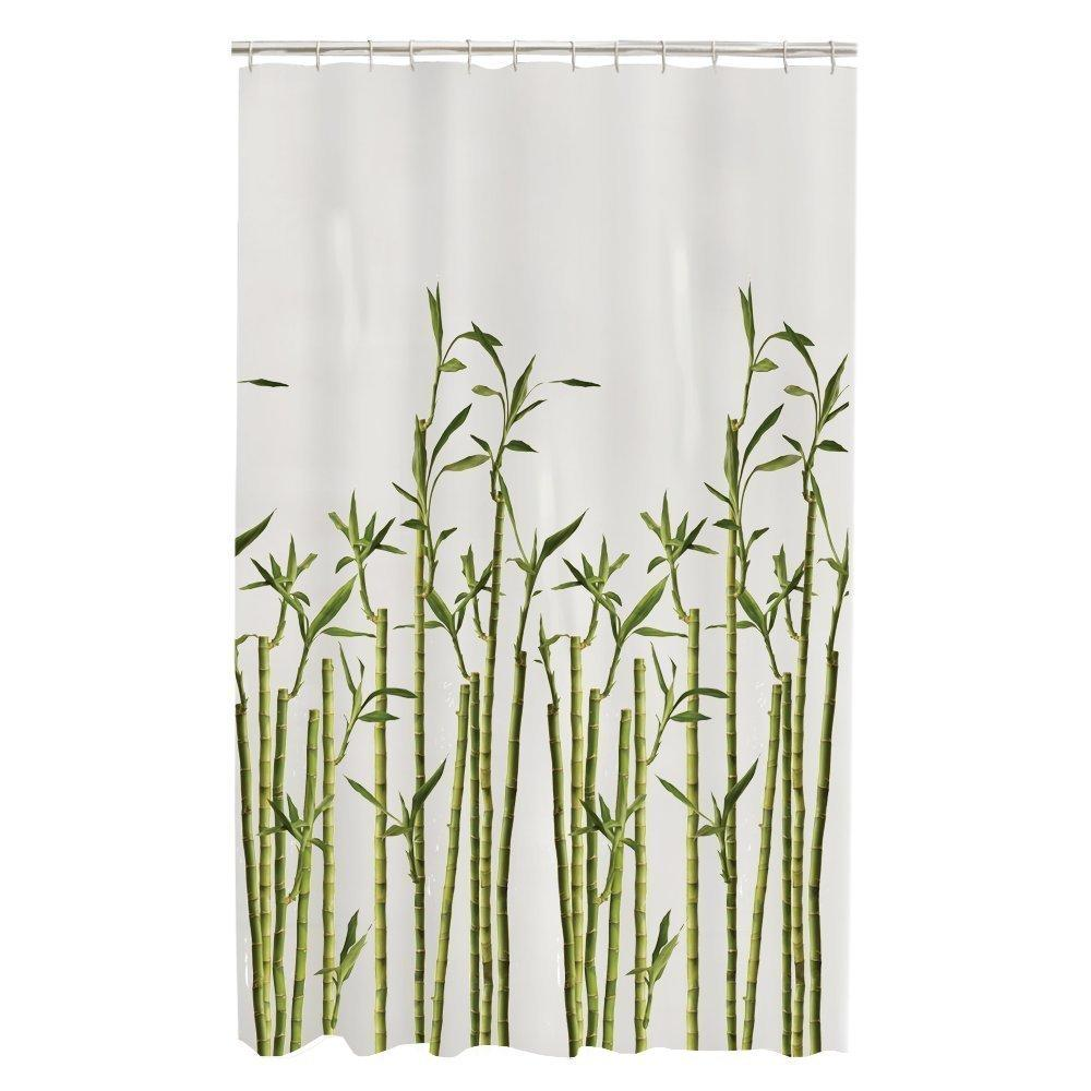 Memory Home Bamboo Photo Real Spa Cuarto de baño Decor Special Collection Tela impermeable Shower Curtain Machine Lavable Blanco