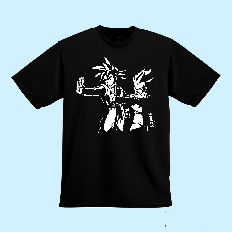 302102e9f Dragon Ball Z Pulp Fiction Goku Vegeta Gift Tee T Shirt Goku Vegeta Casual T -Shirt Fashion T Shirt Online with $20.59/Piece on Dragonballtshirt's Store  ...
