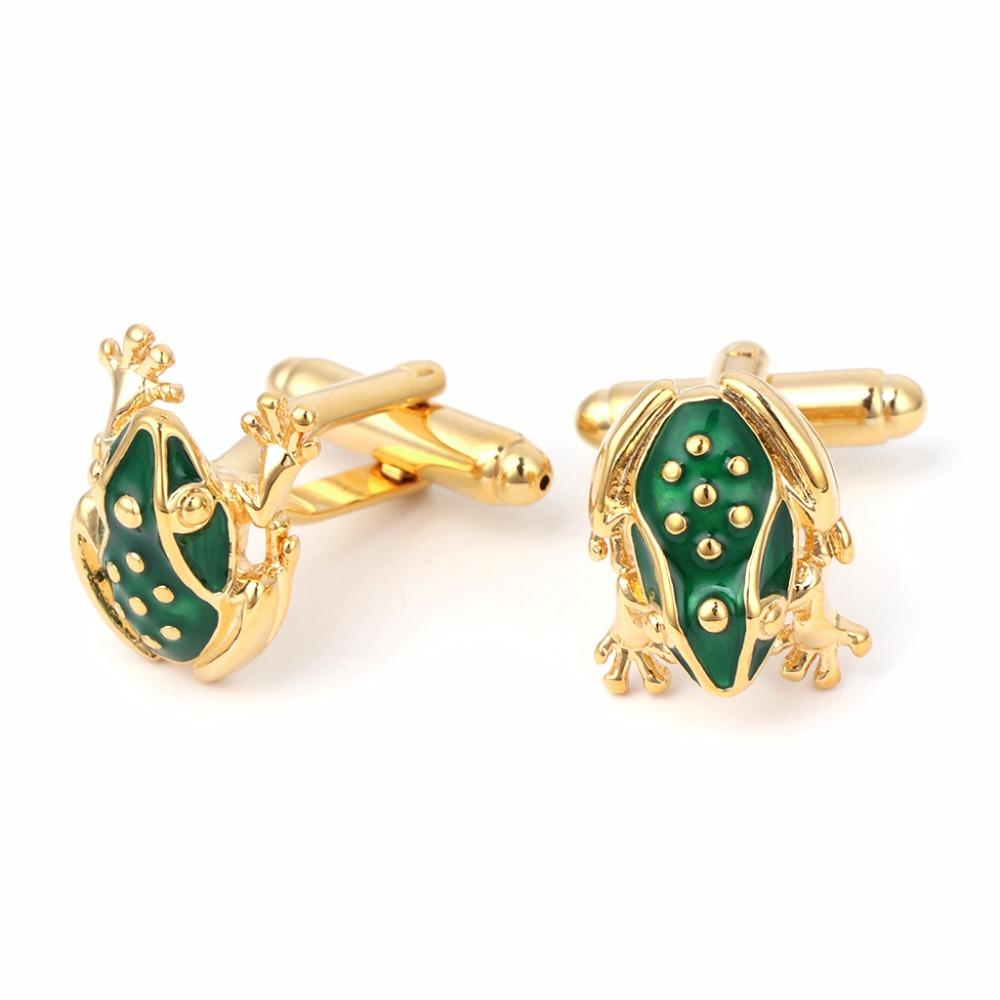 JAVRICK Fashion Frog Mens Shirt Cuff Links Cufflinks For Wedding Party Business Groom Gift Banquet/Feast Luxury Style