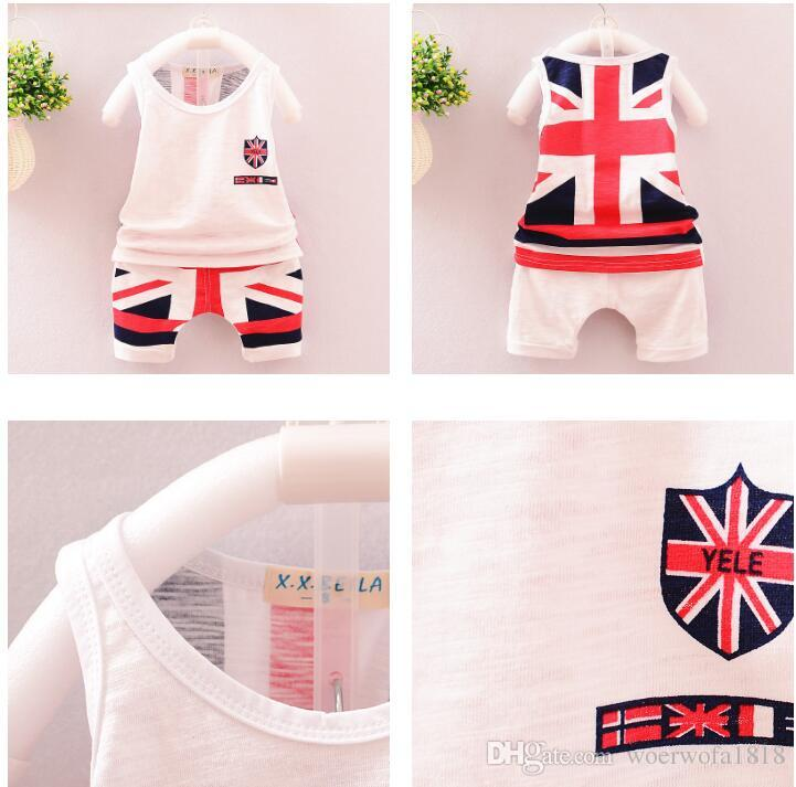 Kids Clothing Sets Summer Baby Clothes Cartoon Fish Shark Print for Boys Outfits Toddler Fashion Tshirt Shorts Children Suits New