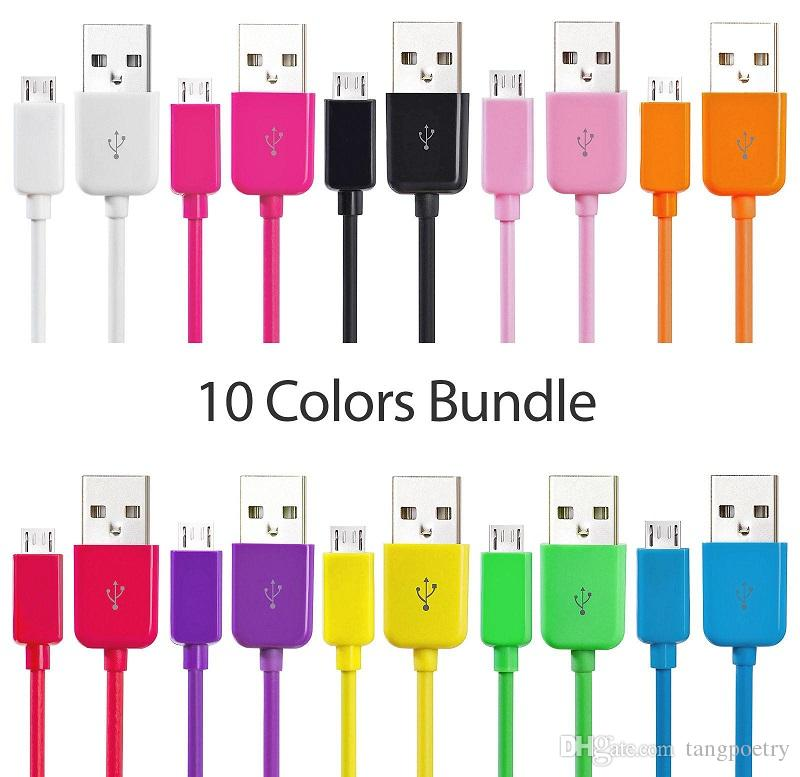 Free 1000pcs/lot Colorful 1m 3FT Micro 5Pin V8 Usb data charging Cable for samsung s3 s4 s6 s7 for phone 5 6 7 plus