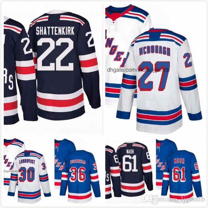 2019 Rick Nash Jersey 61 Henrik Lundqvist 30 Kevin Shattenkirk 22 Ryan  McDonagh 27 Mats Zuccarello 36 Mens Hockey Jerseys 2018AD NY Ranger S 3XL  From ... 7cbfb4b3d