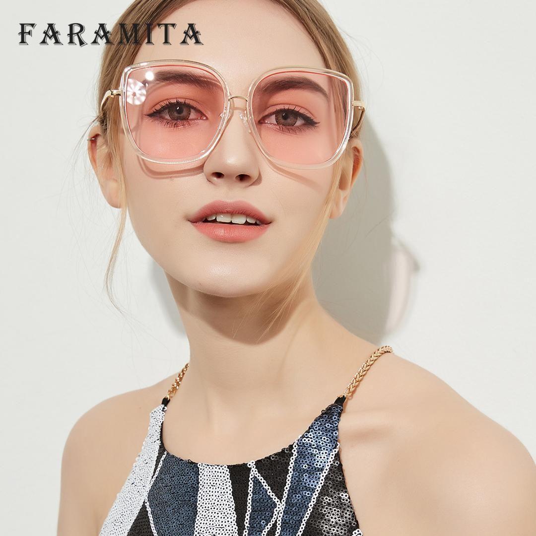 Faramita Brand Retro Big Pink Lady Cute Women Sunglasses Metal Female Sun  Glasses AC Eyewear For Men Cool Beach Holiday Mirror Cheap Eyeglasses  Online ... dc358aecd
