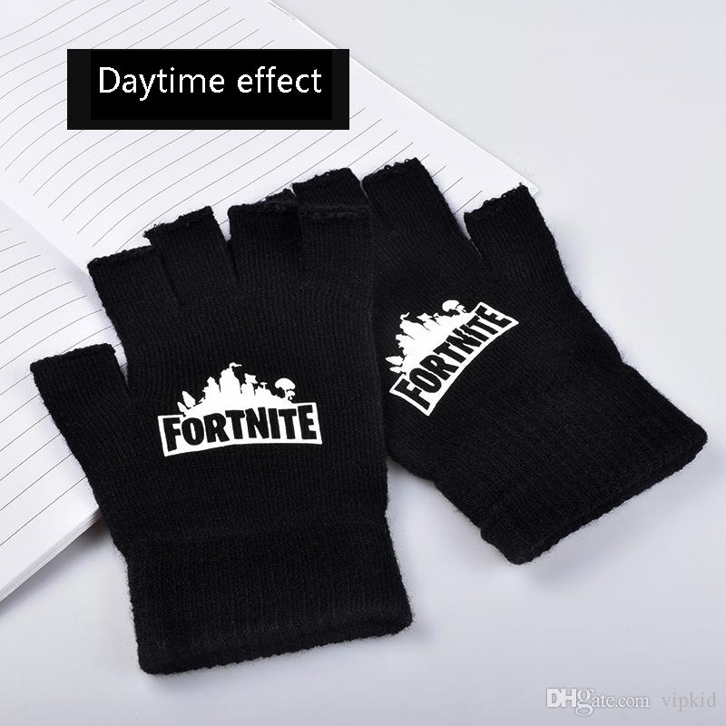 a0d6c50df0c4e New Fortnite Fortress Night Gloves Unisex Half Finger Five Fingers Winter  Plus Velvet Warm Gloves K1 Gloves Outdoor Glove Winter Gloves Online with  ...