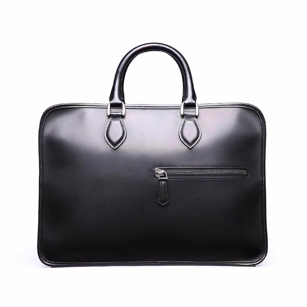 TERSE Precio al por mayor Hombres Business Briefcase Handmade Venezin Cow Leather Handbag Shoulder Bag en Stock 361