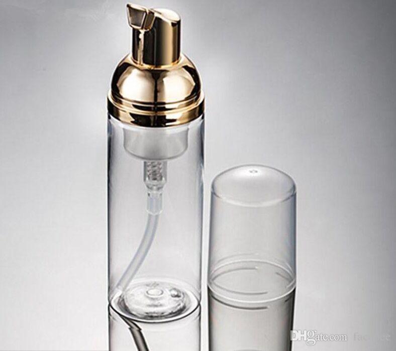 50ml Foamer Bomba Bottle Facial clara Soap Dispenser melhor garrafa Foam Cleanser líquido mais barato com espumador de ouro