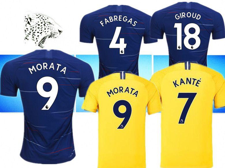 b954223a8 2019 New CFC 2018 2019 New Chelsea Home Jersey Football Shirt Harm MORATA  Cary Fabregas GIROUD Barkley WILLLAN Jersey Shirt From Mx2005