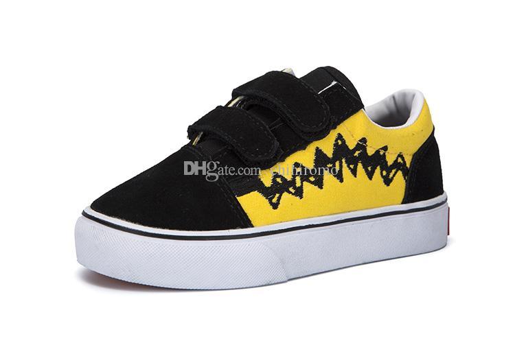 Vans Old Skool low top CLASSICS 2017 nuovi pattini di tela per bambini di marca scarpe high low di ragazzi e ragazze scarpe di tela sportive