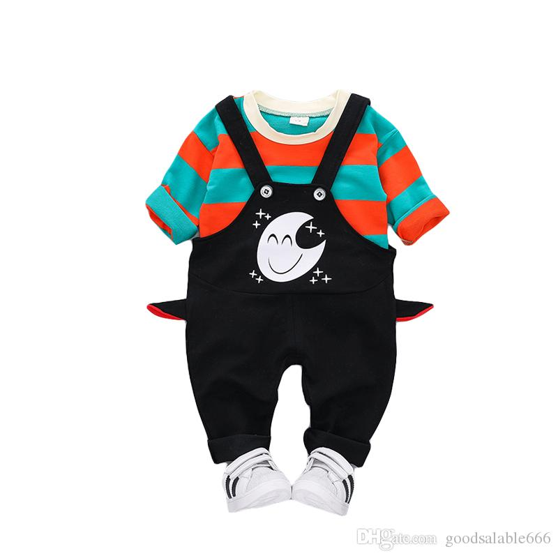 Baby Boys Girls Clothing Cotton Blend Kids Tracksuit Hoodies Pant Children Boys Clothes Set Monkey Tracksuit 100% High Quality Materials Mother & Kids Clothing Sets