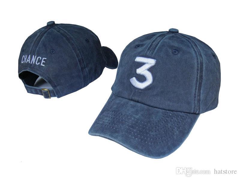 79dc04687fa Denim Blue Hip Hop Chance The Rapper Chance 3 Peaked Cap Hat Letter  Embroidery Baseball Cap Streetwear Strapback Snapback Gorras Casquette Big  Hats Hat ...