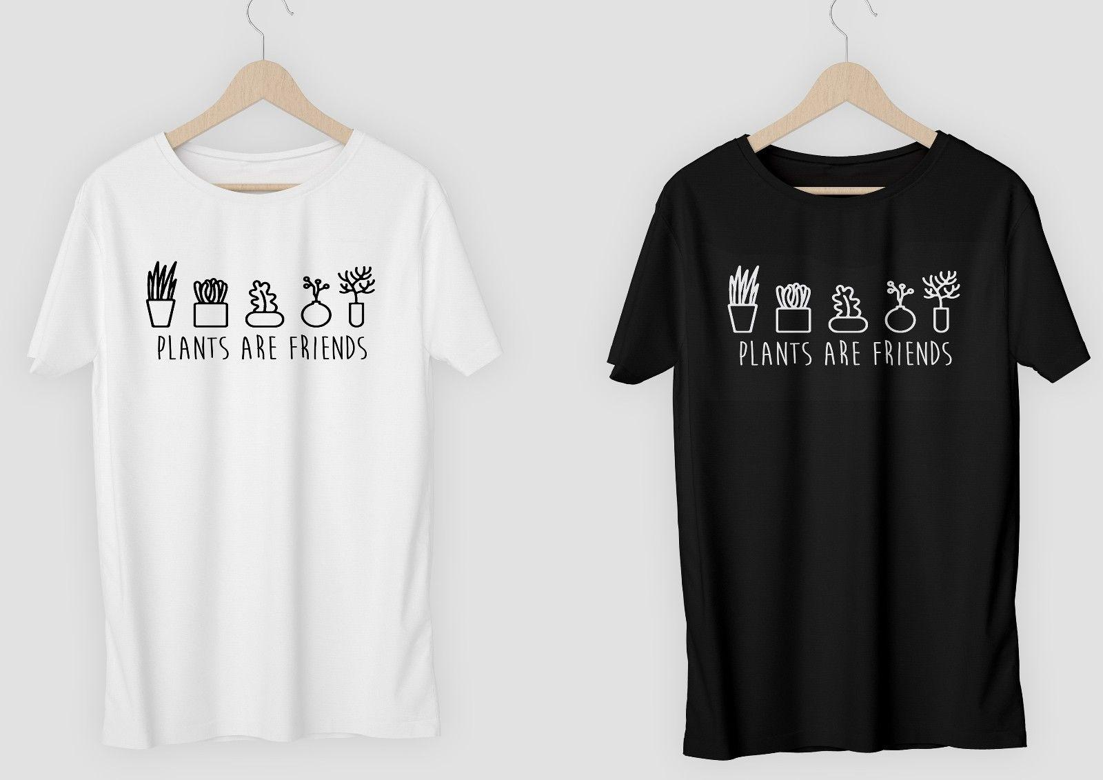 98cda99633c Plants Are Friends T Shirt Or DIY Vinyl Plants Hipster Tumblr Vegan Free  Postage Funny Unisex Casual Tee Gift Top T Shirt Logos Trendy T Shirts From  ...