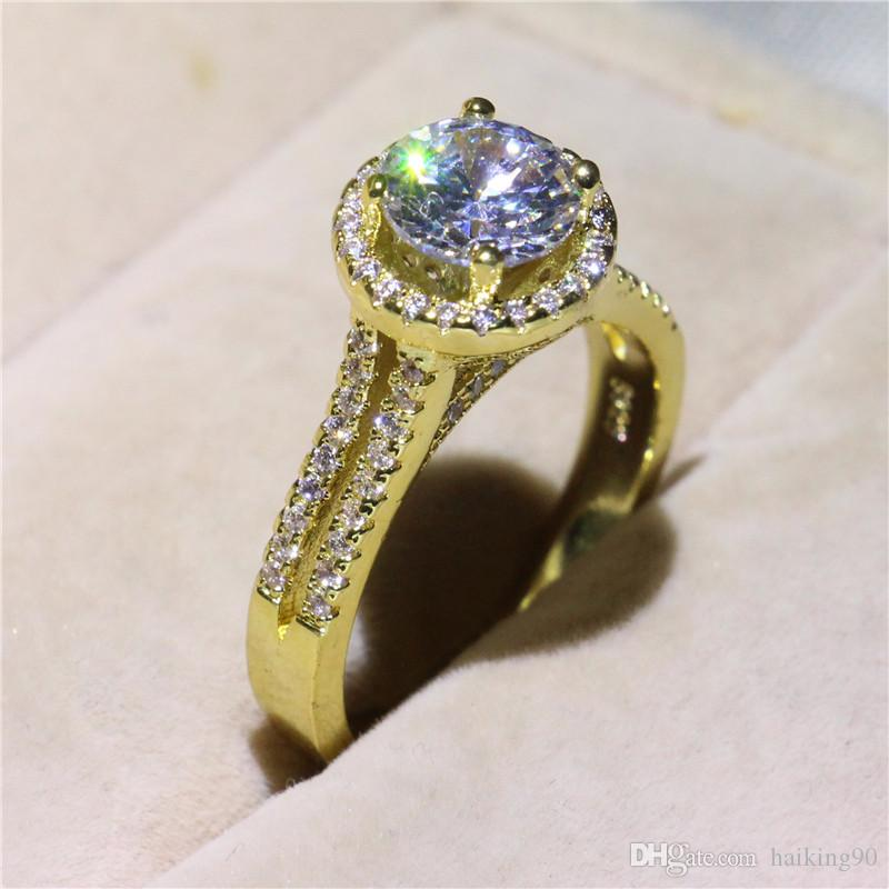 2019 2018 Fashion Golden 925 Sterling Silver Anniversary Diamond