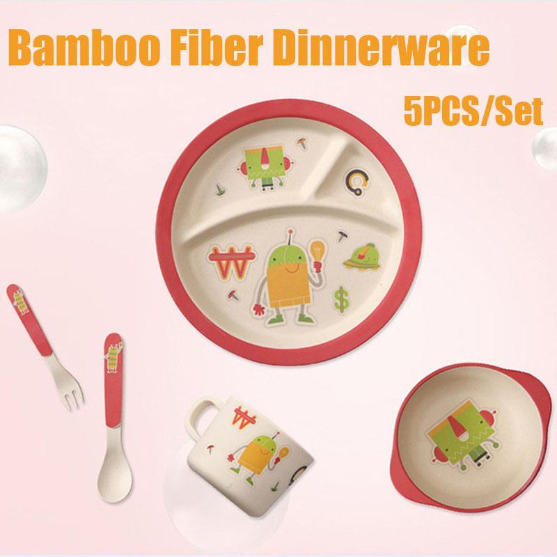 2018 Nature Bamboo Fiber Dinnerware Cartoon Dinner Tableware Baby Bamboo Plate Set Children Tableware Christmas Gift From Askkit $29.06 | Dhgate.Com  sc 1 st  DHgate.com & 2018 Nature Bamboo Fiber Dinnerware Cartoon Dinner Tableware Baby ...